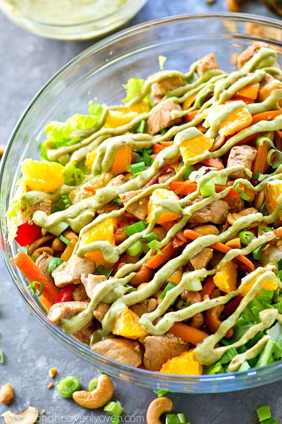 Cashew Chicken Salad with Chipotle Avocado Dressing | Recipe | Cashew ...