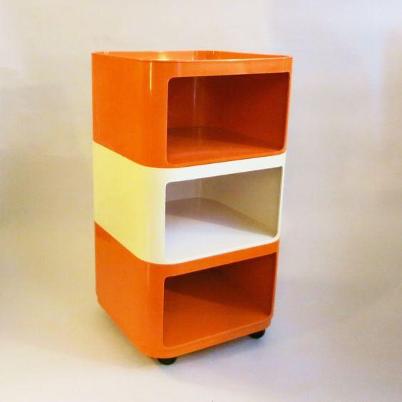 componibili quadrati anna castelli ferrieri for kartell vintage mcm. Black Bedroom Furniture Sets. Home Design Ideas