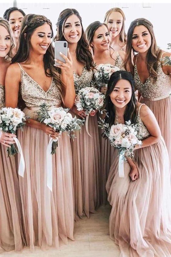 Sequined Bridesmaid Dresses