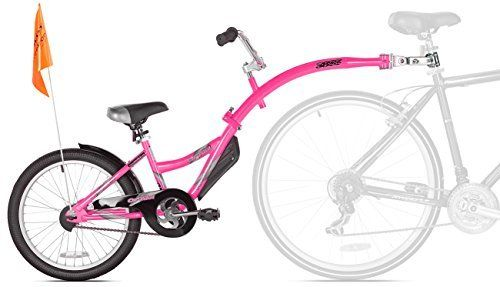 Amazon Com Weeride Co Pilot Bike Trailer Pink Kids Tandem Bike Attachment Sports Outdoors Child Bike Trailer Kids Bicycle Kids Bike