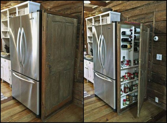 Old wooden doors extra storage space and old doors on for Recycle old doors