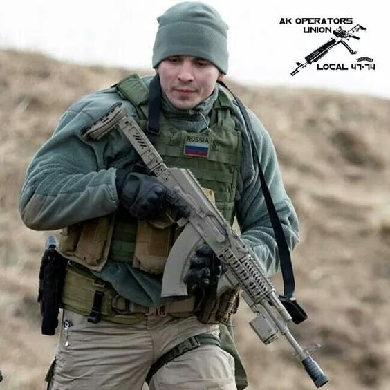 Russian Spetsnaz Operator and his personal AK.