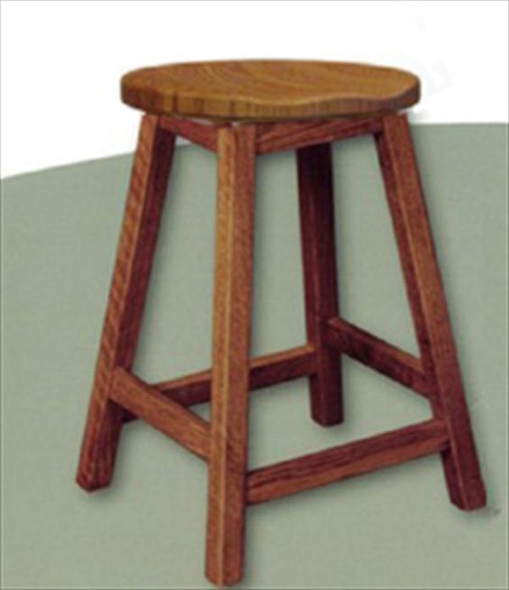Amish Scoop Seat Swivel Bar Stool Amish Furniture Mission