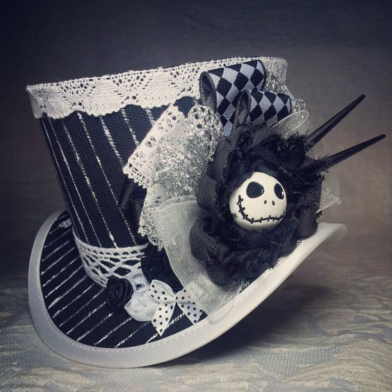 """4"""" top hat - Steampunk Nightmare Before Christmas by OohLaLaBoudoir, FABULOUS!!"""