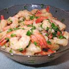 """Caribbean Holiday Shrimp.  I adore this recipe.  The fresh ingredients make the shrimp """"pop"""".  Excellent party dish!"""
