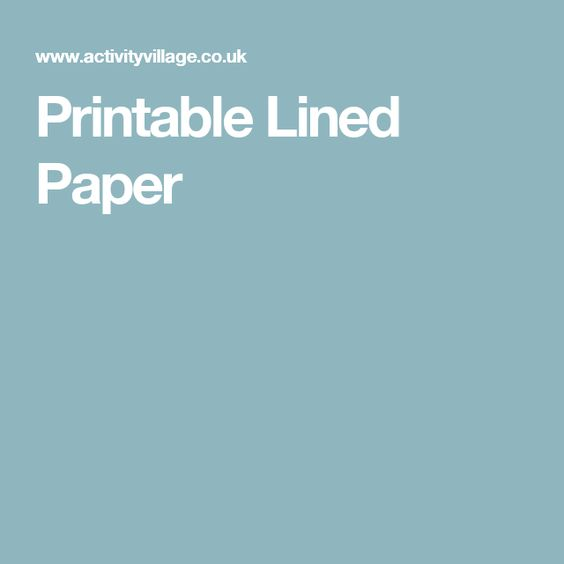 Printable Lined Paper Teaching Ideas Pinterest Paper - printable lined paper