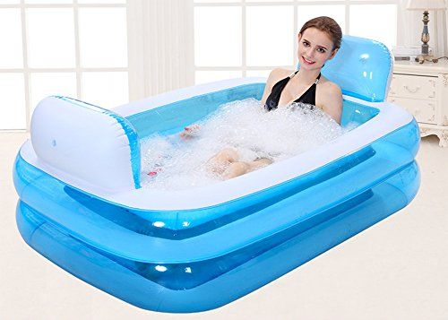 Giant Folding Inflatable Bath Tub Adult Spa Free Standing