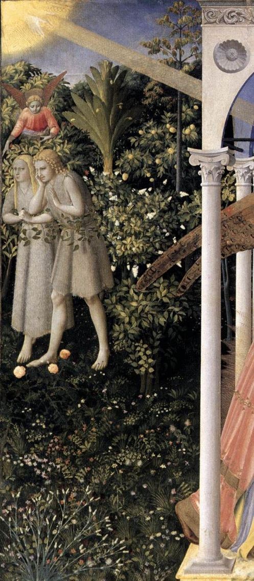 JOJO POST STAR GATES: LASER LIGHT FROM THE FLYING UBJECT IN THE SKY TO THE PLANET EARTH?? AND A FLYING PERSON OVER TREES?? WHAT IS THE MESSAGE THAT THEY LEFT HERE FOR THE FUTUR GENERATIONS ON PLANET EARTH?? The Annunciation (detail) Circa 1426 -- Fra Angelico. Prado Museum, Madrid- WHAT DO YOU SEE? SHAT DO YOU THINK? WHAT DO WE KNOW?