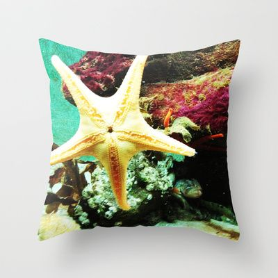 Starfish Throw Pillow by Post Haste Art - $20.00
