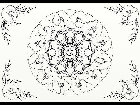Mandala Flower Drawing With Artrage Using Stencils And Symmetry Youtube Flower Drawing Flower Mandala Mandala
