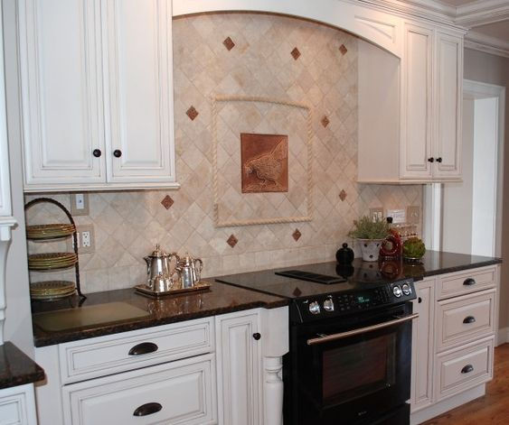 french country kitchen tile backsplash google search