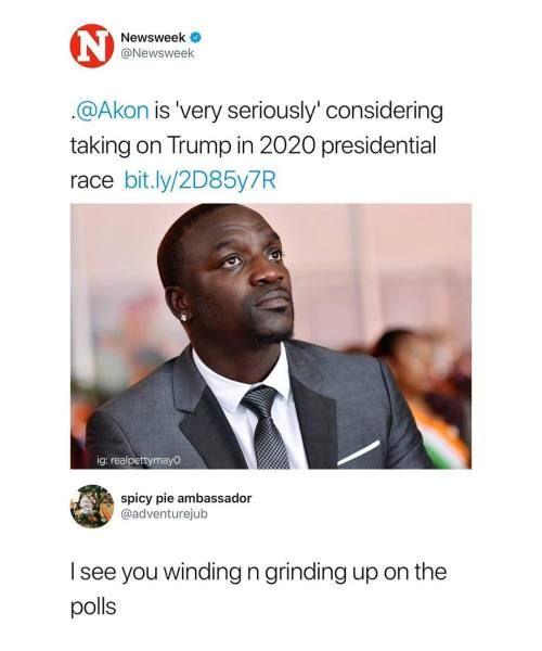 22 Of Today S Freshest Pics And Memes President Meme Akon Memes