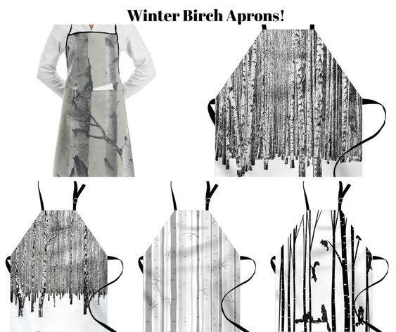 Winter Birch Aprons