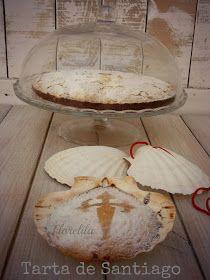 Florelila, recetas y aficiones.: Tarta de Santiago.