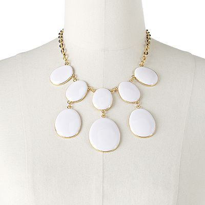Apt. 9 Gold Tone Oval Bib Necklace - $18.20 Kohl's