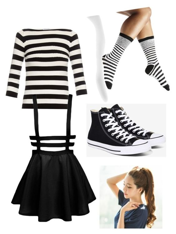 """Halloween Costume Marionette FNAF"" by themysteriousmultifandomgirl ❤ liked on Polyvore featuring Tomas Maier, Steve Madden, Converse and GABALNARA"