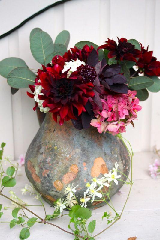 Autumn Flower Bouquet  Dahlia, Hydrangea & Co