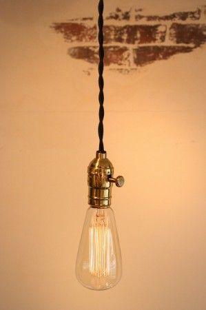 Point No.39 / Edison Lamp (solid gold socket) *OPL001BK