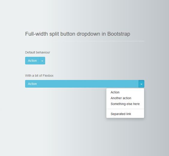 Full-width Split Button Dropdown in Bootstrap, Bootstrap, #Buttons, #Code, #CSS, #CSS3, #Dropdown, #HTML, #HTML5, #Resource, #Responsive, #Snippets, #Web #Design, #Development