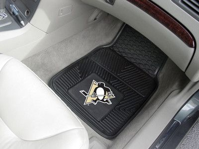 Customize your car or truck and show your team pride with these Pittsburgh Penguins 2-pc Heavy Duty Vinyl Car Mat Set by Fanmats. These Heavy Duty Vinyl Car Mats Set of 2 will easily fit most cars, SU