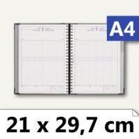 """Quo Vadis """"Time 29"""" Buchkalender - DIN A4, 1 Tag/1 Seite, blau/grau"""