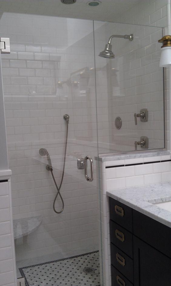 New england bath remodel modern basketweave shower floor for New england bathroom ideas