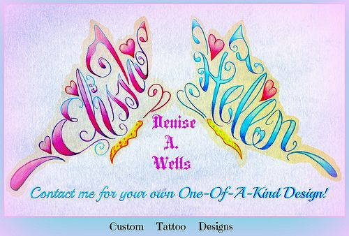 elissa helen name tattoo designs by denise a wells tattoo designs by denise a wells. Black Bedroom Furniture Sets. Home Design Ideas