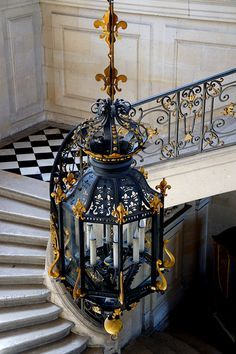 The Staircase Hall, Château d'Anet, Normandy