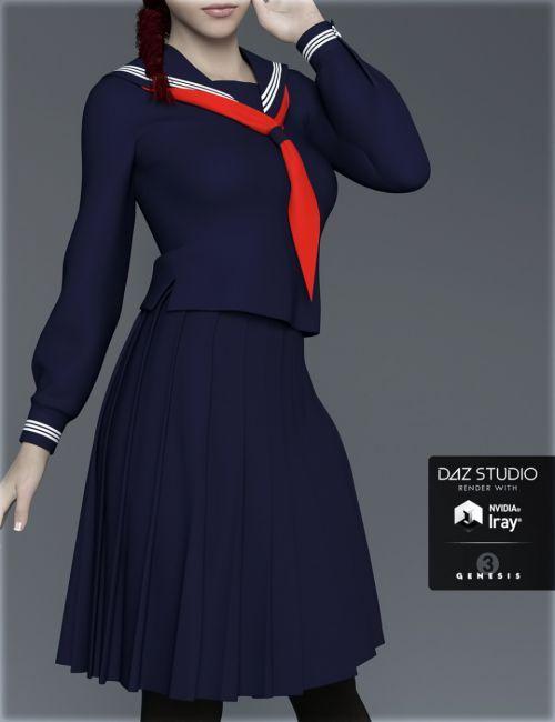 H&C Japanese School Uniforms B for Genesis 3 Female(s)