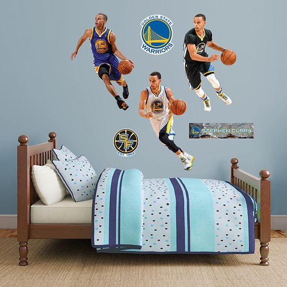 Stephen Curry Hero Pack REAL.BIG. Fathead – Peel & Stick Wall Graphic | Golden State Warriors Sports Home Decor