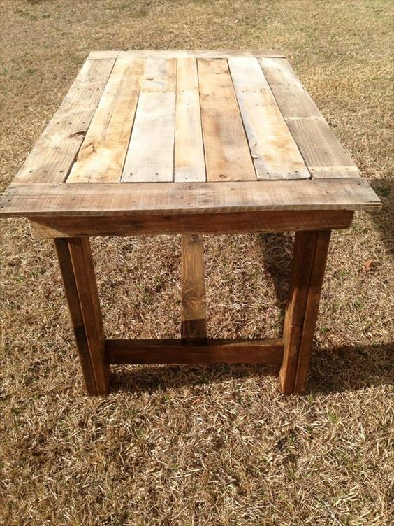 Diy pallet table pallet furniture diy pallet projects for Dining room tables made from pallets