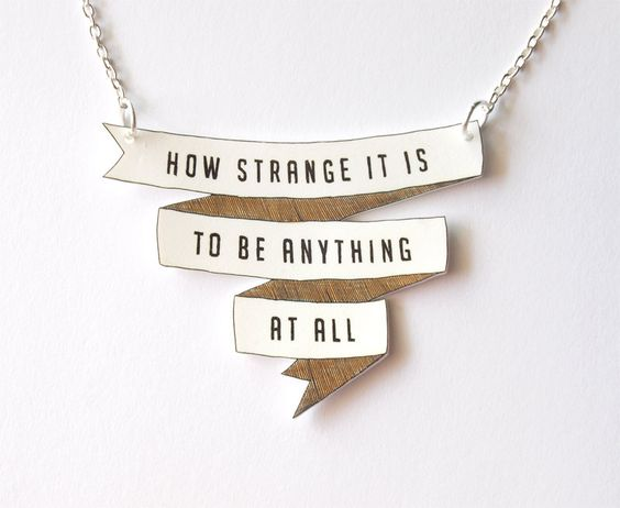How Strange It Is - Banner Necklace - Made To Order. $26.00, via Etsy.