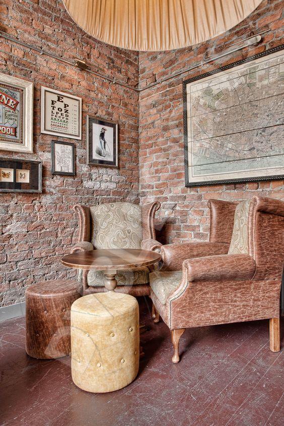 The Old Blind School, Liverpool, snug room, brick work