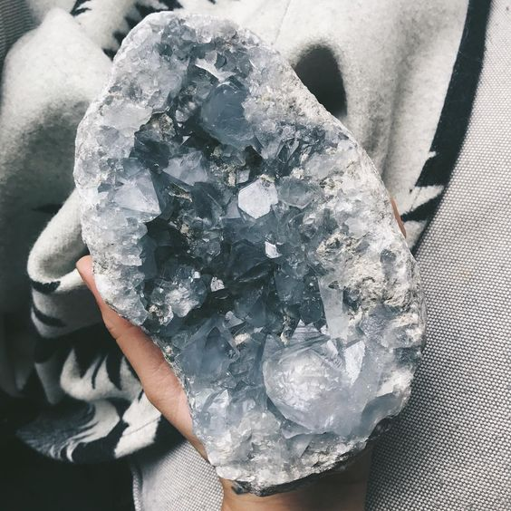 "887 Likes, 20 Comments - B L A I R E ☾ (@iamblaireporter) on Instagram: ""I have a huge Celestite egg + some other crystals available on my site. Added them this week priced…"""