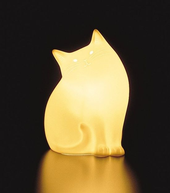 This cat will literally light up your life! <3 Cat Lamp By Narumi, Japan: