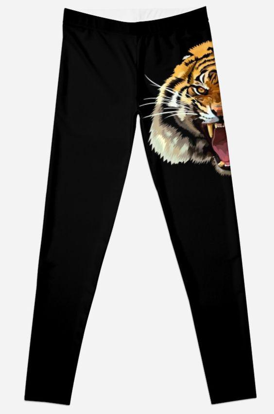 Tiger Roar Digital art Painting Leggings  #Leggings #clothing  #abstract #lion #tiger #cat #bigcat #fur #beautiful #animal #aztec #jungle #puma #tarzan #pattern #gryffindor #narnia #stipes #tigerstripes #skins