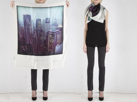 Polaroid silk scarves: To wear, or display? Perhaps a little bit of both!: