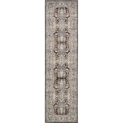 Rosalind Wheeler Curragh Charcoal Area Rug Rug Size: 2' 7 X 10' 0