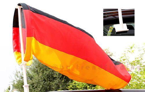 2x Sonnenblende Kfz Nation Fanartikel Deutschland Sonnenschutz Auto f/ür Seitenscheibe in Schwarz-Rot-Gold