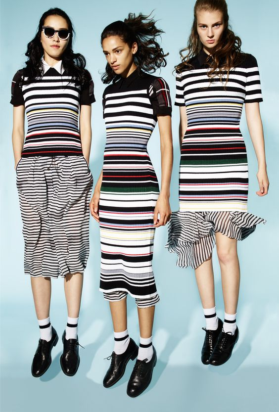 Striped knits Preen Line Spring 2016: