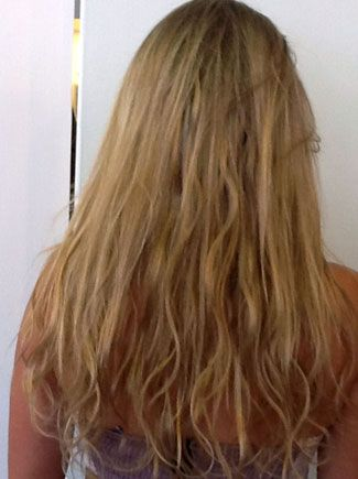 After Picture -Hair extensions are human hair integrations, by adding length to the existing hair. Manzi Nay is an expert in different types of hair extensions in the Santa Monica Beauty Salon.
