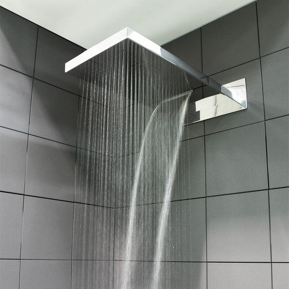 Soffione doccia per installazione a parete arredamento e accessori - Lampade da bagno a parete ...