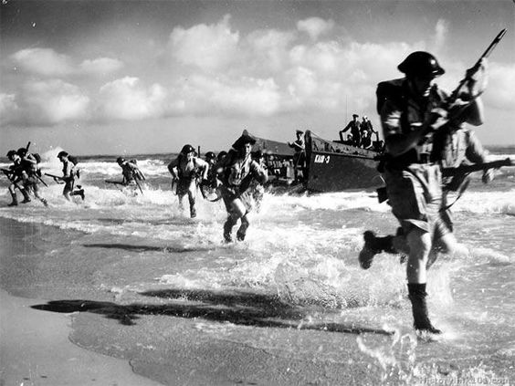 D Day on the Normandy Beaches   June 6, 1944