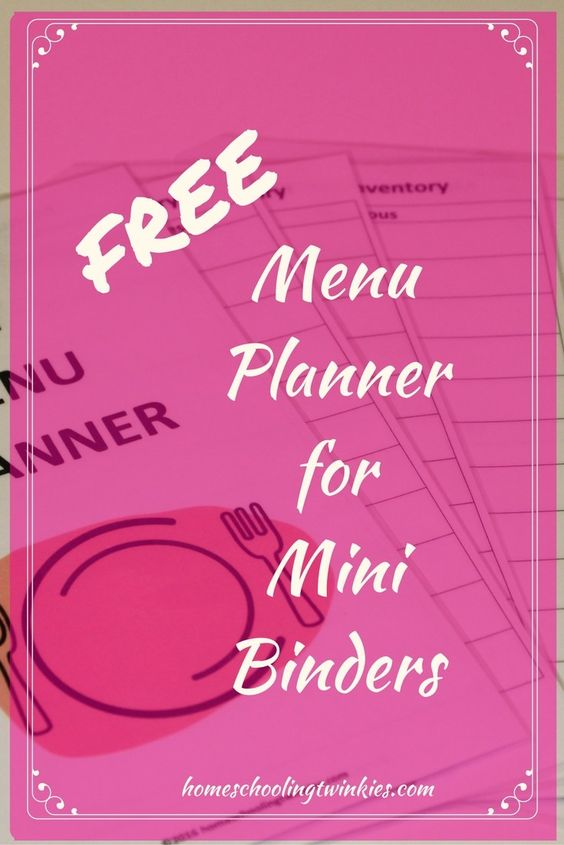 menu planner for mini binders how to put your mini menu planner templates together and how to use them efficiently