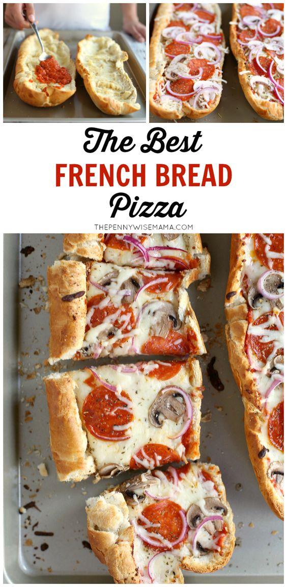 The Best French Bread Pizza | Recipe | French Bread Pizza, Bread Pizza ...