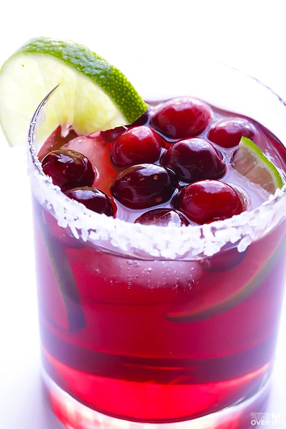 Drink Recipes for Entertaining | Cranberry Margaritas