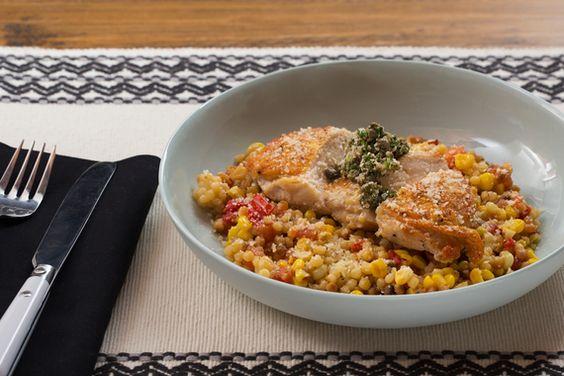 Seared Chicken & Fregola Sarda