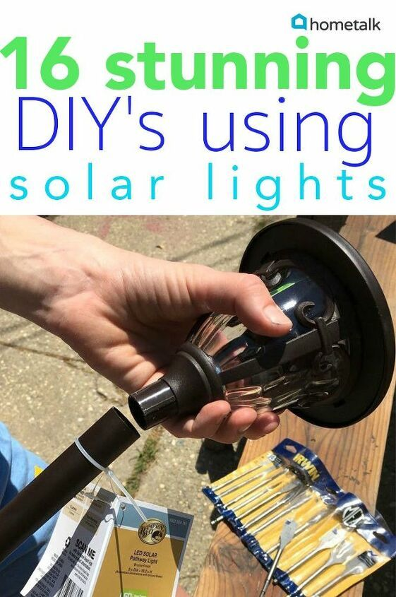 16 Stunning Ways For You To Add Solar Lighting To Your Backyard Hometalk Diy Diy Wall Shelves Diy Home Decor Projects