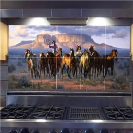 Dishes Cowboys Tile Murals Dream Homes Mosaic Tiles Love Slate Tiles