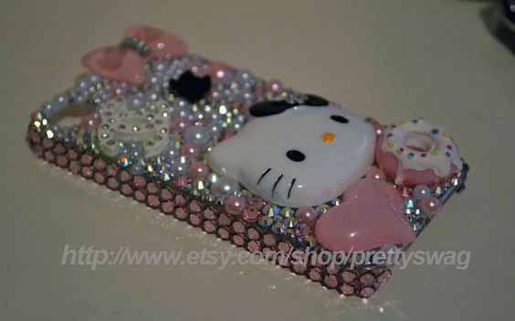 Swarovski Hello Kitty iPhone 4/4s Case and free by prettyswag, $60.00